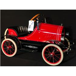 CLASSIC RED ROADSTER PEDAL CAR,