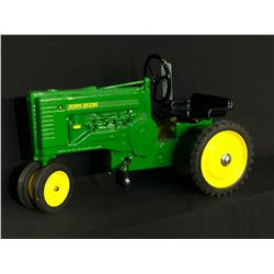 "JOHN DEERE ""A"" LOW PROFILE PEDAL TRACTOR, DUAL FRONT WHEELS, MADE EARLY 2000'S"