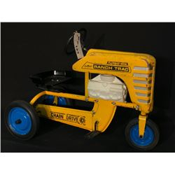 "AMF ""RANCH TRAC"" TURBO 502 TIN PEDAL TRACTOR,"