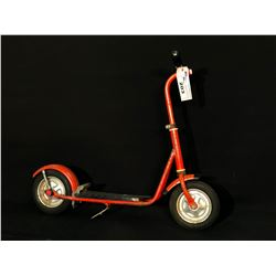 KIDS 2 WHEEL SCOOTER WITH FOOT BRAKE, C. 1960'S