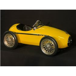 YELLOW ITALIAN FERRARI RACER PEDAL CAR,