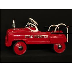 """MURRAY """"SAD FACE"""" LADDER FIRE TRUCK, LATE 1940'S, RARE CHAIN DRIVE VERSION, RESTORED WITH AUTHENTIC"""