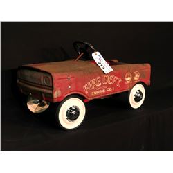 """MURRAY """"TOOTH GRILLE"""" PEDAL CAR, FIRE DEPT. ENGINE CO. 1,"""