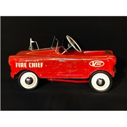"""TRIANG """"THISTLE"""" V60 DISTRICT FIRE CHIEF PEDAL CAR"""