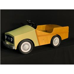HOMEMADE WOODEN FORD PEDAL CAR,