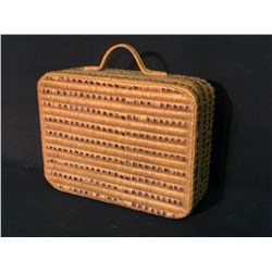 """SALISH FIRST NATION HAND WOVEN SUITCASE/TREATY CASE, 17"""" X 13"""" X 6"""""""