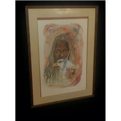 "FRAMED LIMITED EDITION PRINT, ""WISDOM"" BY NANOOCH, 19/135, 1980, SIGNED BY ARTIST ON BOTTOM, 40"" X"