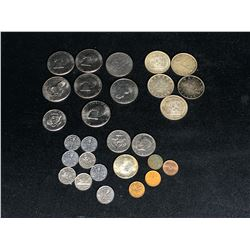 COLLECTION OF CANADA AND USA COINS (INC. SILVER) DATING FROM 1920-1976 INC. CANADA 1858-1958