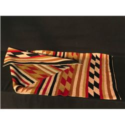 """EARLY NAVAJO NATIVE HAND STITCHED RUG, 61"""" X 30"""""""