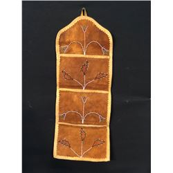 "TALHTAN SMOKED HIDE BEADED WALL POUCH, 29"" TALL"