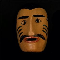 "ATLIN KWAKWAKA'WAKW NATIVE PORTRAIT MASK, 13.5"" TALL"
