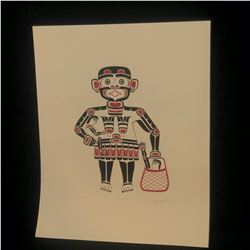 "HENRY HUNT LIMITED EDITION SILKSCREEN PRINT, ""CANNIBAL WOMAN"", 462/600, 1979, UNFRAMED, 26"" X 20"""