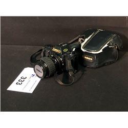 CANON T50 35MM SLR CAMERA WITH ORIGINAL CASE