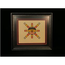 STAN HUNT, OF KWA-GUILTH FIRST NATION, LIMITED EDITION SUN PRINT, 34/42, 1979, 30'' WIDE, 27'' TALL