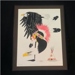 """RUSSELL M. HASKELL, ORIGINAL WATER COLOUR AND INK ON PAPER, """"LOOK TO THE HEAVENS"""", SIGNED AND DATED"""