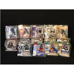COLLECTION OF 14 NHL FIGURINES IN ORIGINAL PACKAGING INC. MARIO LEMIEUX, CHRIS PRONGER, WAYNE