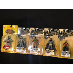 5 BATMAN FIGURINES INC. 4 FROM BATMAN INCORPORATED SERIES AND 1 SUPERMAN/BATMAN VENGEANCE ACTION