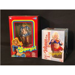 2 SUPERGIRL FIGURINES BY KOTOBUKIYA AND TERRY DOBSON, BOTH IN ORIGINAL PACKAGING