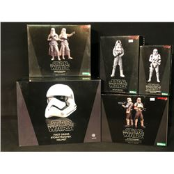 5 STAR WARS STATUES INC. SHORETROOPER 2 PACK BY KOTOBUKIYA, SNOWTROOPER 2 PACK BY KOTOBUKIYA, AT-AT