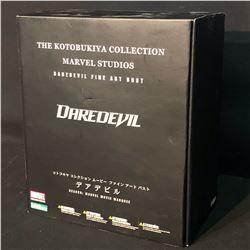 MARVEL KOTOBUKIYA COLLECTION LIMITED EDITION DAREDEVIL FINE ART STATUE, IN ORIGINAL PACKAGING,