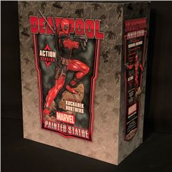DEADPOOL PAINTED STATUE BY THE KUCHAREK BROTHERS, ACTION VERSION, IN ORIGINAL PACKAGING