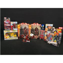 COLLECTION OF DEADPOOL MEMORABILIA INC. POP! FIGURINES, ACTION FIGURES AND MORE, MOST IN ORIGINAL