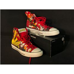 CONVERSE/DC COMICS, STYLE 00398207, THE FLASH DESIGN, SIZE US MENS 10/WOMENS 12, BRAND NEW