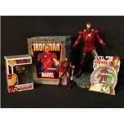 IRONMAN COLLECTABLES INC. MARVEL UNMASKED MINI BUST IN ORIGINAL PACKAGING, POP! FIGURINE AND HASBRO