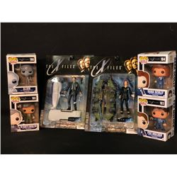COLLECTION OF 6 THE X-FILES FIGURINES INC. 4 POP! FIGURES, ALL IN ORIGINAL PACKAGING