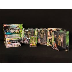 COLLECTION OF GHOSTBUSTERS MEMORABILIA INC. LEGO SETS, POP! FIGURINES, AND ACTION FIGURES, ALL IN