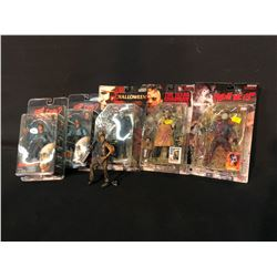 COLLECTION OF FIGURINES INC. FROM FRIDAY THE 13TH, EVIL DEAD 2, HALLOWEEN, AND TEXAS CHAINSAW