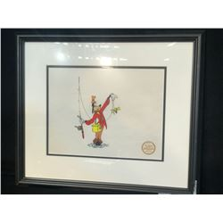 "WALT DISNEY COMPANY LIMITED EDITION SERIGRAPH FROM ORIGINAL ""HOW TO FISH"" ART, FRAMED, 21"" X 18"""