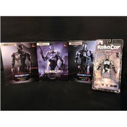 COLLECTION OF 4 ROBOCOP FIGURINES, ALL IN ORIGINAL PACKAGING