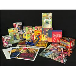 COLLECTION OF SCOTT PILGRIM AND RELATED ITEMS INC. HARDCOVER BOOKS, POP! FIGURINES, COLLECTORS