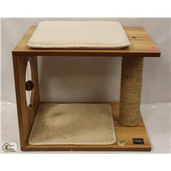 VESPER 2 STORY CAT BOX WITH SCRATCHING POST
