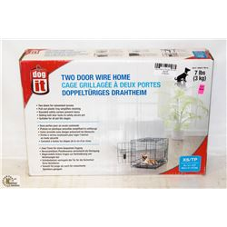 DOG IT 2 DOOR WIRE HOME FOR UP TO 7LB ANIMALS