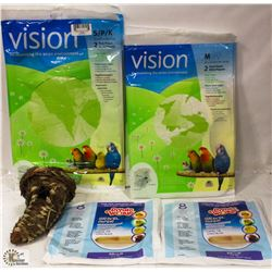 7 PACKS OF VISION BIRD CAGE PAPER IN ASST SIZES & - Kastner