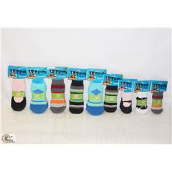 LOT OF ASSORTED PAWKS PET SOCKS