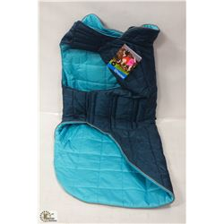 RC PET PRODUCTS SKYLINE PUFFY VEST SIZE 30 BLUE.
