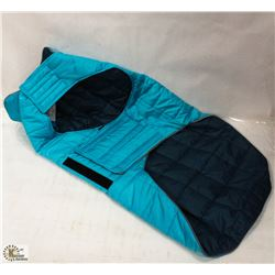 RC PET PRODUCTS SKYLINE PUFFY VEST SIZE 28 BLUE.