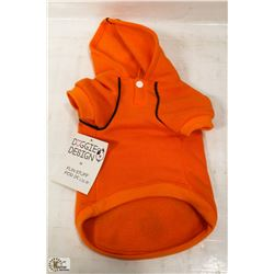 THE ORANGE POPSICLE SPORTY HOODY 11-16LB DOGS.