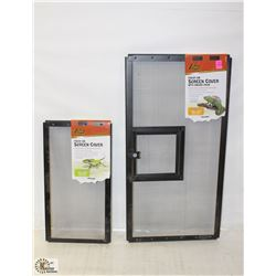 LOT OF 2 ZILLAS FRESH AIR SCREEN COVERS,