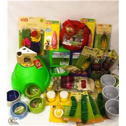 BOX OF ASSORTED FEEDING DEVICES & MORE INCL