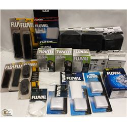 BOX OF FLUVAL ASSORTED ITEMS INCL CARBON CARTRIDGE