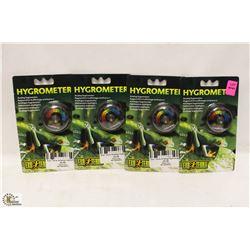 LOT OF 4 EXOTERRA HYGROMETERS