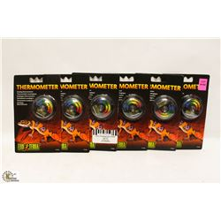 LOT OF 6 EXOTERRA THERMOMETERS