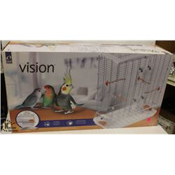 VISION BIRD CAGE WITH DEBRIS GUARD, MODEL #L12.