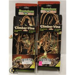 LOT OF 2 REPTOLOGY CLIMBING VINES, 5FT EACH.