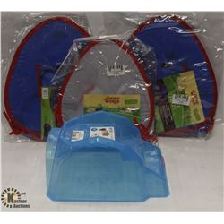 LOT OF 3 LIVING WORLD TENTS & SMALL ANIMAL