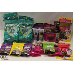 BOX OF ASSORTED FERRET ITEMS INCL HARNESSES,